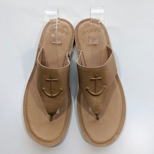 NEW Sperry Seaport Sandals Tan Women's 11